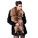 Lange mouwen sjaal faux fur party / casual jas
