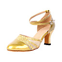 Cuero de las mujeres para requisitos particulares con zapatos de baile moderno Upper netas (más colores)