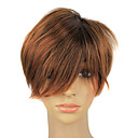 Capless Syntetisk Short Light Brown Hair Parykker
