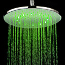 Chrome Finish Round 3 Colors LED Shower Head
