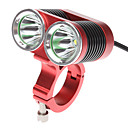 DARK KNIGHT K2C 4-Mode 2xCree XM-L T6 LED Bicycle lommelykt (2400LM, 4x18650, Red)
