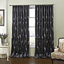 (Dos paneles) modernas plumas de lujo del bordado de ahorro de energía de la cortina