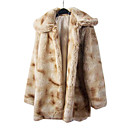 Lange mouwen opmaken faux fur party / Casual Coat