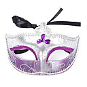 Tres Partido de la piedra preciosa artificial Máscara Reina del Carnaval
