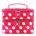 Fashion Kvinner Portable Kosmetisk Retro Dot Mønster Beauty Makeup Hånd tilfelle bag