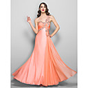 Formal Evening / Prom / Military Ball Dress - Ruby Plus Sizes / Petite A-line One Shoulder Floor-length Chiffon / Stretch Satin