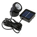 Powered Spotlight 6 LED solaire imperméable à l'eau extérieure Jardin lampe d'inondation (CEI-57157)
