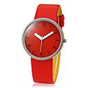 女性のシンプルなデザインのPUバンドクォーツアナログ腕時計(アソートカラー)