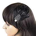 Vintage Feather Fascinator For Women en PC (Flere farger)