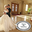Wedding Décor Personalized Round Flower Pattern  Dance Floor Decal (More Colors)