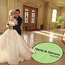 decoração personalizada casamento elegante do monograma pista de dança decalque (mais cores)