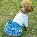 Wedding Style Lace Pattern Dress for Pets Dogs (Assorted Colors,Sizes)