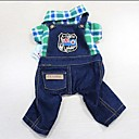 Summer Plaid Denim Overalls for Pets Dogs(Assorted Colors, Sizes)