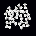 20PCS 3D White Resin Strass strik Nail Decorations