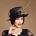 Chapeau Casque Mariage/Occasion spéciale/Casual/Outdoor Plume/Lin Femme/Jeune bouquetière Mariage/Occasion spéciale/Casual/Outdoor