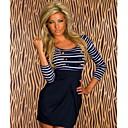 Women's Sexy  Stripes Bodycon Mini Dress