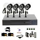 DIY CCTV-System mit 4 Wasserdichte Kameras für Home & Office