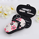 4 stycken Blom Flip Flop Purse Manikyr Kit Wedding Favor