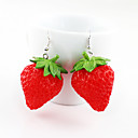 Alloy Stereo Strawberry Pattern Earrings