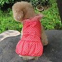 Fashion Dot Print Coat with Dress Style Winter Clothes  for Pets Dogs (Assorted Colors, Sizes)