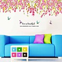 Botanisk Sakura Falling Flowers Wall Stickers