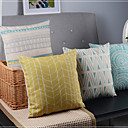 set med 4 minimalism klassiska linjer och krökta blandade dekorativa örngott