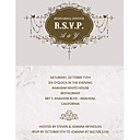 Personalized Formal Rehearsal Dinner Invitation Cards - Set of 12