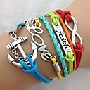 Women's Vintage Multideck Anchor Multi-Color Combined Symbols Braided Bracelet