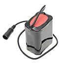 8.4V 5500mAh External 6 x 18650 Li-ion Battery Pack - Black