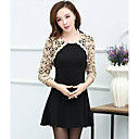 Women's Lace Black Dress , Cute/Work Round Neck ¾ Sleeve Lace