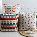 uppsättning av 3 moderna regelbunden geometrisk i blandad färg dekorativa örngott
