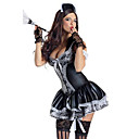 Seductive Girl Black Polyester French Maid Uniformfor Carnival