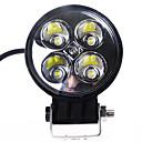 12W (4*3W) 780LM 6500K White Light Led ATV Work Spot Lamp for Off-road Driving SUV Truck (DC9-32V)
