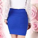 sólido azul / violeta falda rosada / oscura de las mujeres, mini bodycon reunió