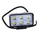 18W(6*3W Epsitar) DC9-32V 2650LM 6000K 4Inch Car LED Work Light Bar Spot Lamp for Off-road SUV Truck