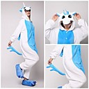 Cute Blue Unicorn Aikuinen Coral Fleece kigurumi pyjama Animal Yöpuvut