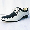 plana calcanhar oxfords conforto sapatos masculinos com lace-up