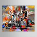 IARTS®Oil Painting People Two Naked Girls Back to Back with Stretched Frame Hand-Painted Canvas
