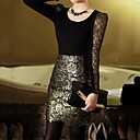 Women's Gold Skirts , Casual/Lace/Work Above Knee