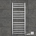 110W Towel Warmer 304# Stainless Steel Mirror Polished Drying Rack Wall Mount