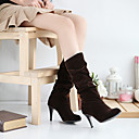 Women's Shoes Slouch Pointed Toe Stiletto Heel Suede Mid-calf Boots More Colors available