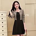 vrouwen kleuraanpassing valse tweedelige jurk met lange mouwen