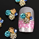 10pcs   Square Crystal Round 3D Rhinestone DIY Accessories Nail Art Decoration