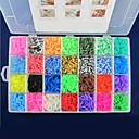 4400pcs Muti-color Rainbow Color Loom Style Kit DIY Rubber Band Bracelets  4400pcs Bands,144 S-clips,1 Hook, 1Loom