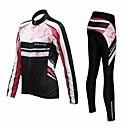 Håller värmen / Andningsfunktion / Snabb tork - Lång ärm - Klädesset/Kostymer / Byxa / Jersey (Svart) - till Cykling - Dam
