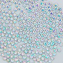 1400PCS 2MM Glitter Crystal AB Rhinestone Nail Art Decoration