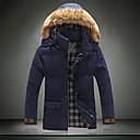 pura cor dos homens com roupas de algodão grosso casaco acolchoado