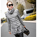 Women's  Cute Puff Sleeve Splicing Double Breasted Coat