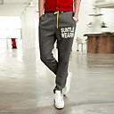Men's Sweatpants , Casual/Sport Print Cotton Blend