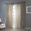 minimalistisk beige solid jacquard sheer (to paneler)